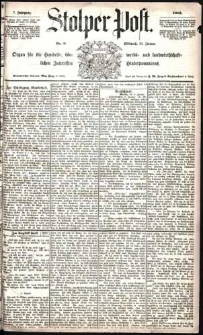 Stolper Post Nr. 8/1883
