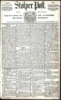 Stolper Post Nr. 40/1883
