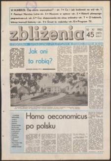 Zbliżenia : tygodnik społeczno-polityczny, 1983, nr 45