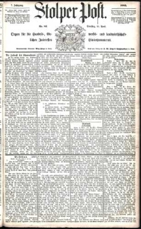 Stolper Post Nr. 83/1883