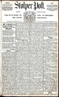 Stolper Post Nr. 109/1883