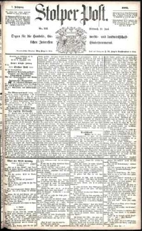 Stolper Post Nr. 141/1883