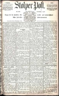 Stolper Post Nr. 154/1883