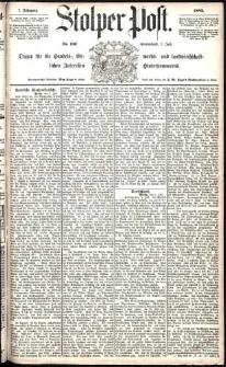 Stolper Post Nr. 156/1883