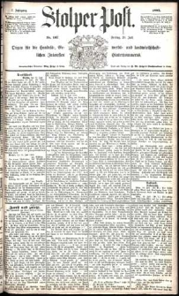 Stolper Post Nr. 167/1883
