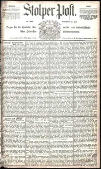 Stolper Post Nr. 168/1883