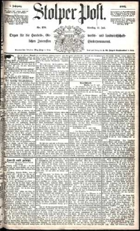 Stolper Post Nr. 176/1883