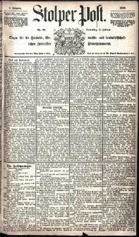 Stolper Post Nr. 36/1885