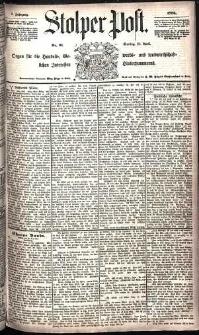 Stolper Post Nr. 91/1885