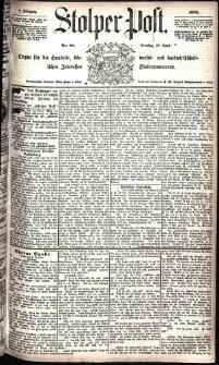 Stolper Post Nr. 98/1885