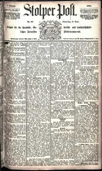 Stolper Post Nr. 99/1885