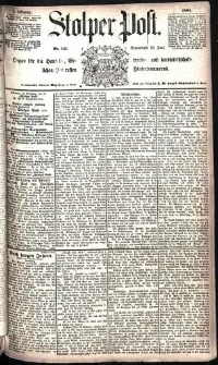 Stolper Post Nr. 141/1885