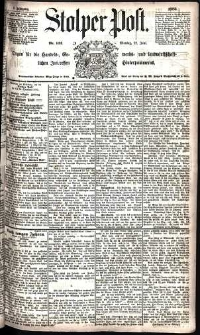 Stolper Post Nr. 142/1885