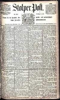 Stolper Post Nr. 161/1885