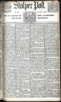 Stolper Post Nr. 177/1885
