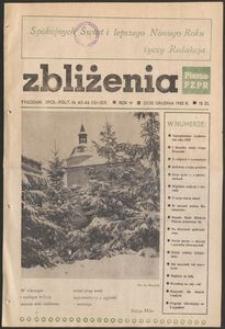 Zbliżenia : tygodnik społeczno-polityczny, 1982, nr 45/46