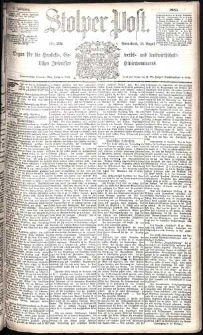 Stolper Post Nr. 201/1885
