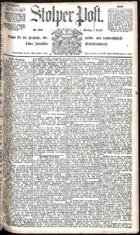 Stolper Post Nr. 208/1885