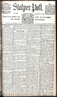 Stolper Post Nr. 277/1885