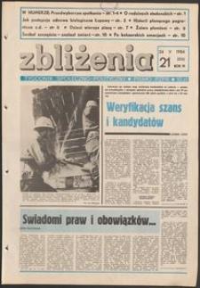 Zbliżenia : tygodnik społeczno-polityczny, 1984, nr 21