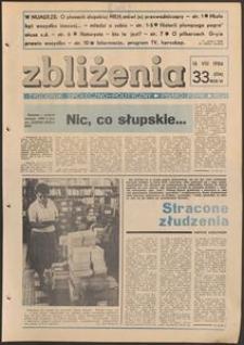Zbliżenia : tygodnik społeczno-polityczny, 1984, nr 33