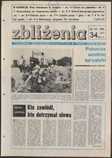 Zbliżenia : tygodnik społeczno-polityczny, 1984, nr 34