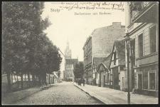 Stolp Bachstrasse mit Rathaus [Obecnie ulica Starzyńskiego z widokiem na ratusz]