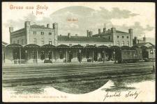 Gruss aus Stolp i. Pom. Bahnhof [Dworzec kolejowy]