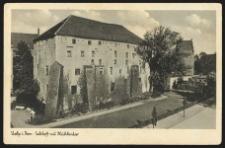 Stolp i. Pom. Schloss mit Mühlenlor [Zamek Książąt Pomorskich]