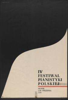 [Plakat} : IV Festiwal Pianistyki Polskiej w Słupsku