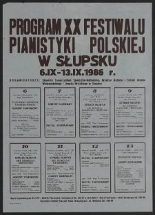 [Afisz] : XX Festiwal Pianistyki Polskiej w Słupsku