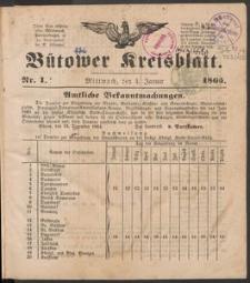 Bütower Kreisblatt 1865