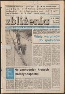 Zbliżenia : tygodnik społeczno-polityczny, 1985, nr 1