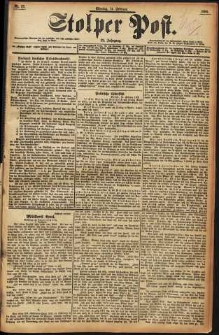 Stolper Post Nr. 37/1898
