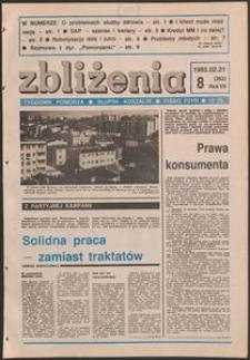 Zbliżenia : tygodnik społeczno-polityczny, 1985, nr 8