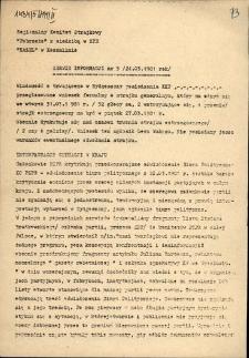 """Serwis Informacyjny Regionalnego Komitetu Strajkowego """"Pobrzeże"""" z siedzibą ZPE """"Kazel"""" 1981, nr 5"""