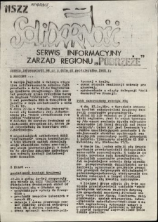 """Serwis Informacyjny Zarządu Regionu """"Pobrzeże"""", nr 22"""