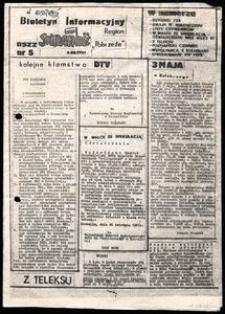 """Biuletyn Informacyjny NSZZ """"Solidarność"""" Region """"Pobrzeże"""", 1891, nr 5"""