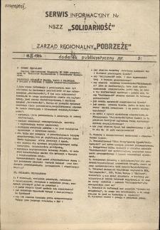 """Serwis Informacyjny Zarządu Regionu """"Pobrzeże"""" : dodatek publicystyczny, nr 9"""