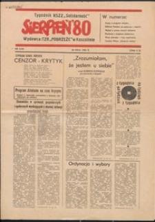 """""""Sierpień '80"""" Tygodnik NSZZ """"Solidarność"""", 1981, nr 1"""
