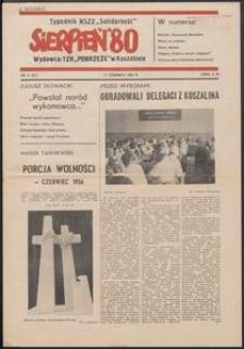 """""""Sierpień '80"""" Tygodnik NSZZ """"Solidarność"""", 1981, nr 3"""