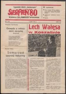 """""""Sierpień '80"""" Tygodnik NSZZ """"Solidarność"""", 1981, nr 6"""