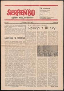 """""""Sierpień '80"""" Tygodnik NSZZ """"Solidarność"""", 1981, nr 9"""