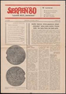 """""""Sierpień '80"""" Tygodnik NSZZ """"Solidarność"""", 1981, nr 10"""