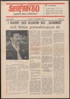"""""""Sierpień '80"""" Tygodnik NSZZ """"Solidarność"""", 1981, nr 20-21"""