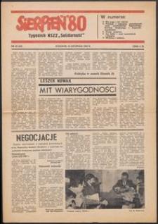 """""""Sierpień '80"""" Tygodnik NSZZ """"Solidarność"""", 1981, nr 25"""