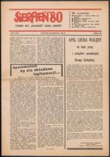 """""""Sierpień '80"""" Tygodnik NSZZ """"Solidarność"""", 1981, nr 26"""
