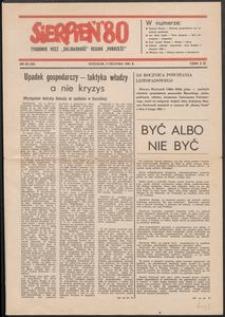 """""""Sierpień '80"""" Tygodnik NSZZ """"Solidarność"""", 1981, nr 28"""
