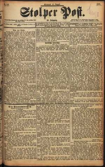 Stolper Post Nr. 185/1898