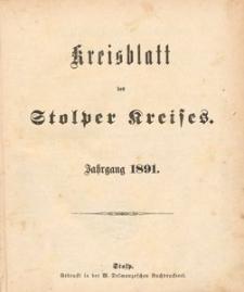 Kreisblatt des Stolper Kreises, 1891